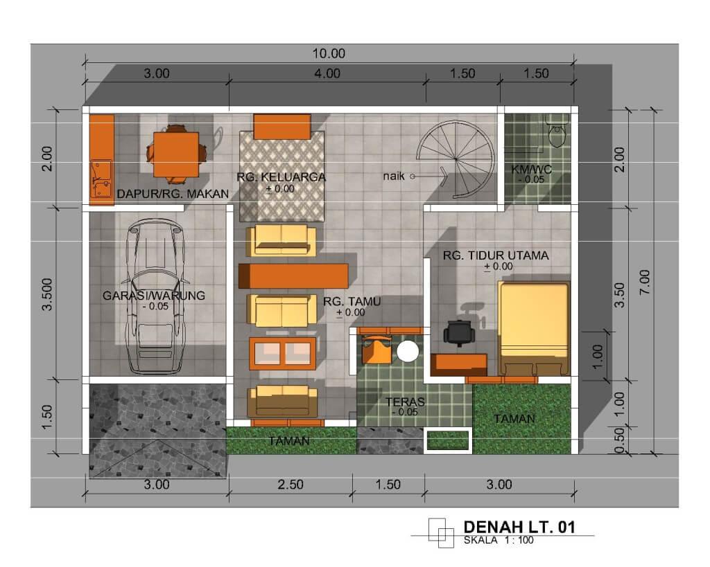 11 Foto Desain Rumah Minimalis Type 36 2 Lantai 3D Paling ...
