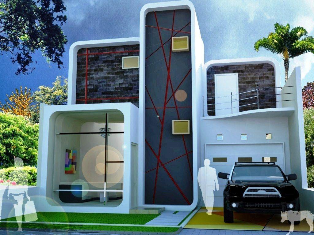 Desain Rumah Unik 2 Lantai Deagam Design
