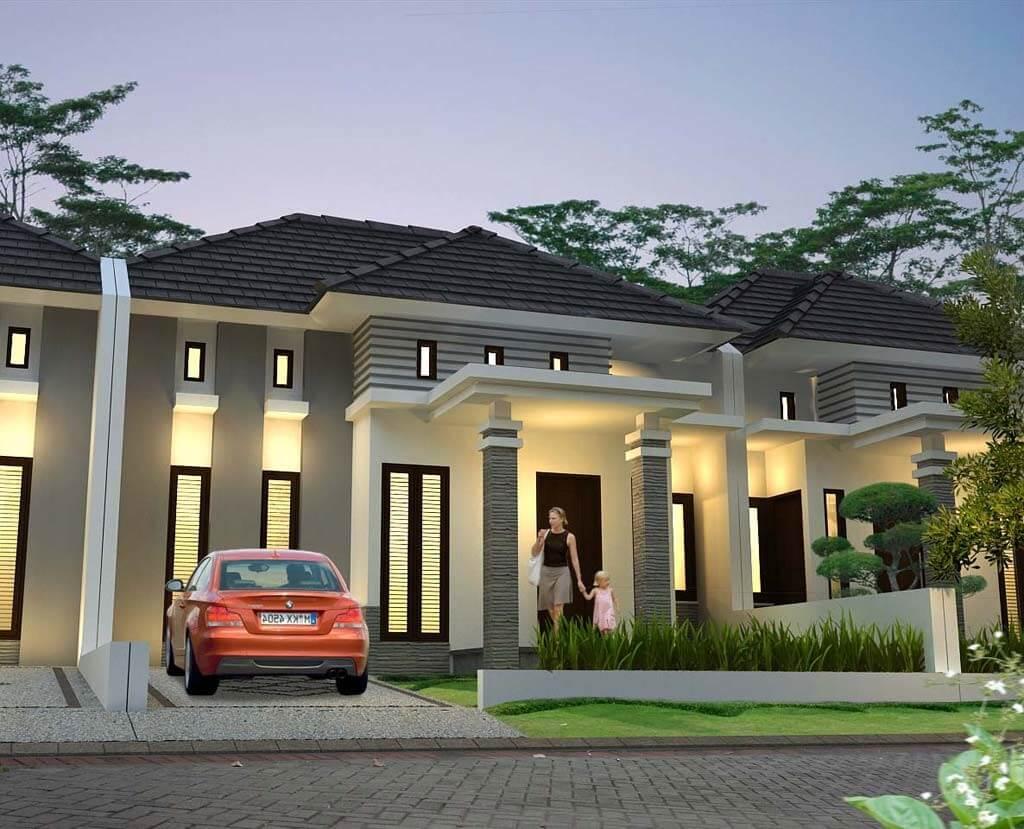 14 Contoh Desain Rumah Mewah Modern Satu Lantai Istimewa Banget