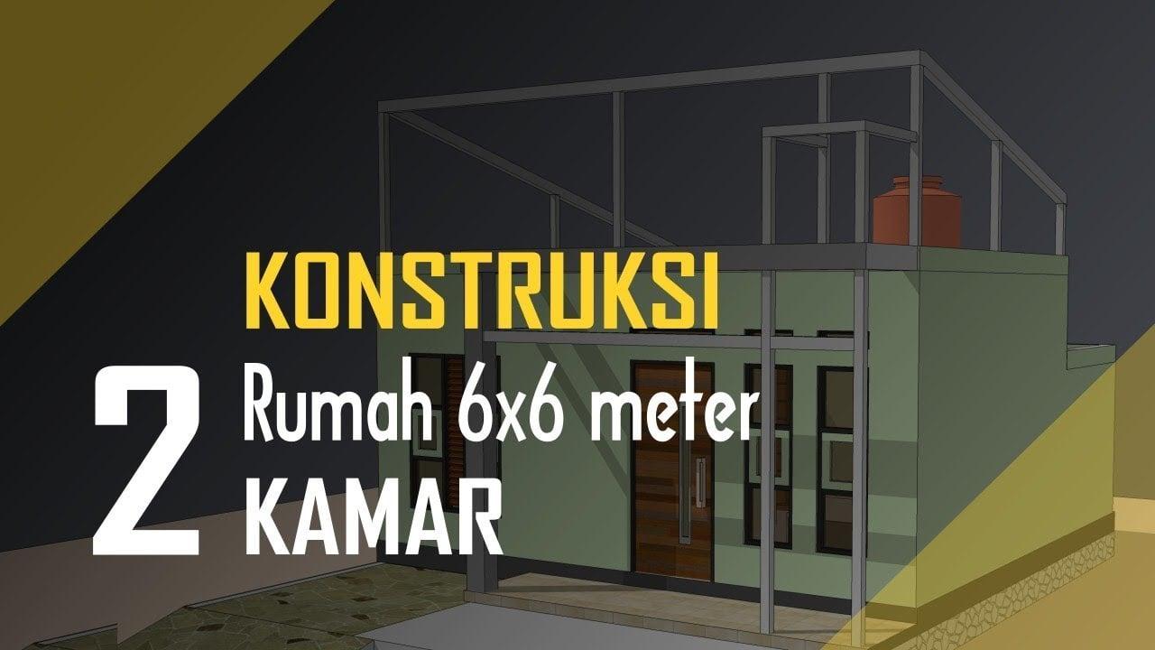 15 Trend Desain Rumah Minimalis Ukuran 6x6 2 Kamar Kreatif Banget