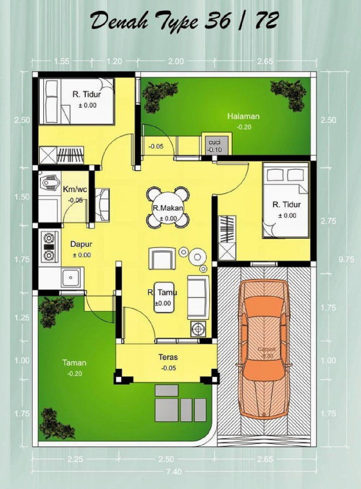 16 Macam Desain Rumah Minimalis 8X12 Satu Lantai Terbaru Dan Terlengkap -  Deagam Design