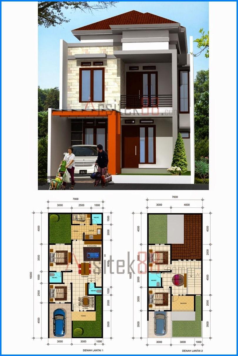 17 Inspirasi Desain Denah Rumah Minimalis Modern 2 Lantai Terbaru Dan Terbaik Deagam Design