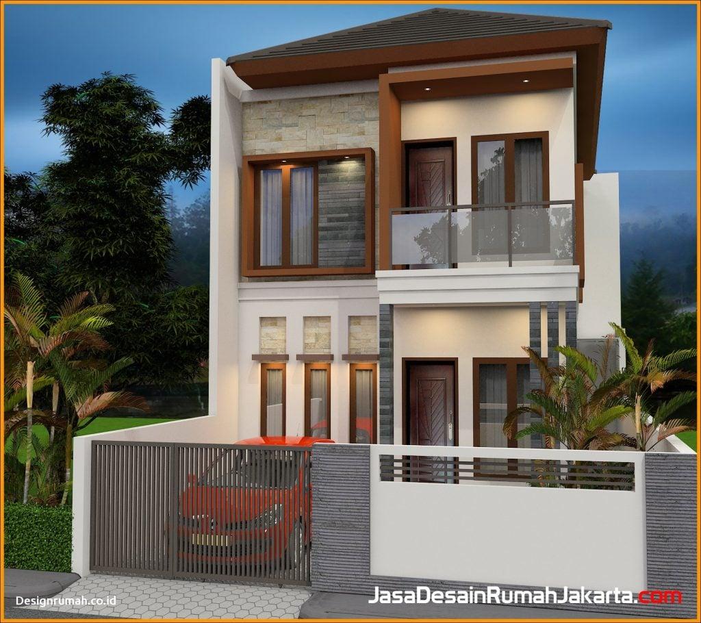 18 Contoh Desain Warna Cat Rumah Minimalis 2 Lantai Yang ...