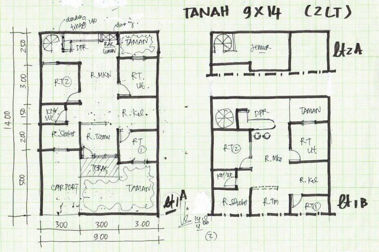 21 Model Desain Denah Rumah Mewah 10 X 14 Paling Banyak di ...