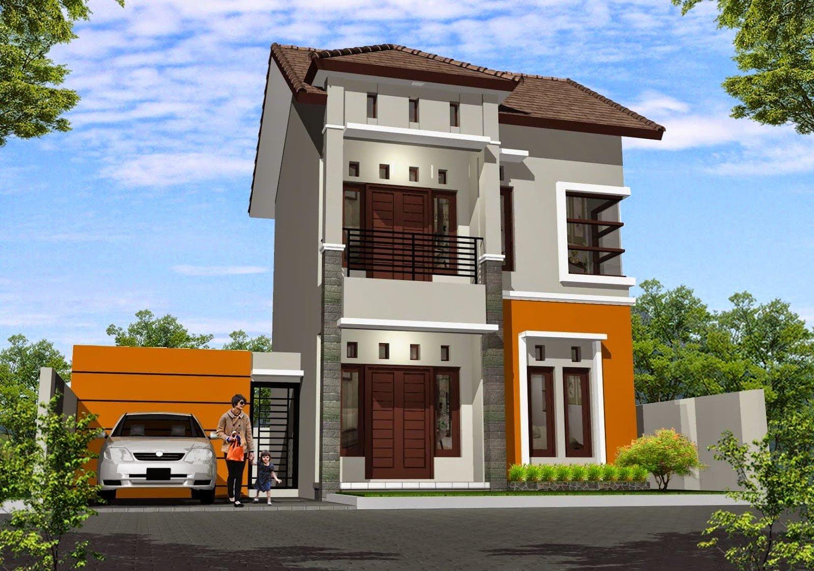 26 Ide Desain Cat Rumah Minimalis 2 Lantai Tampak Depan ...