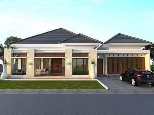 26 model desain eksterior rumah minimalis modern 1 lantai