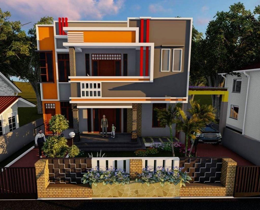 28 Foto Desain Warna Cat Rumah Minimalis 2 Lantai Tampak ...