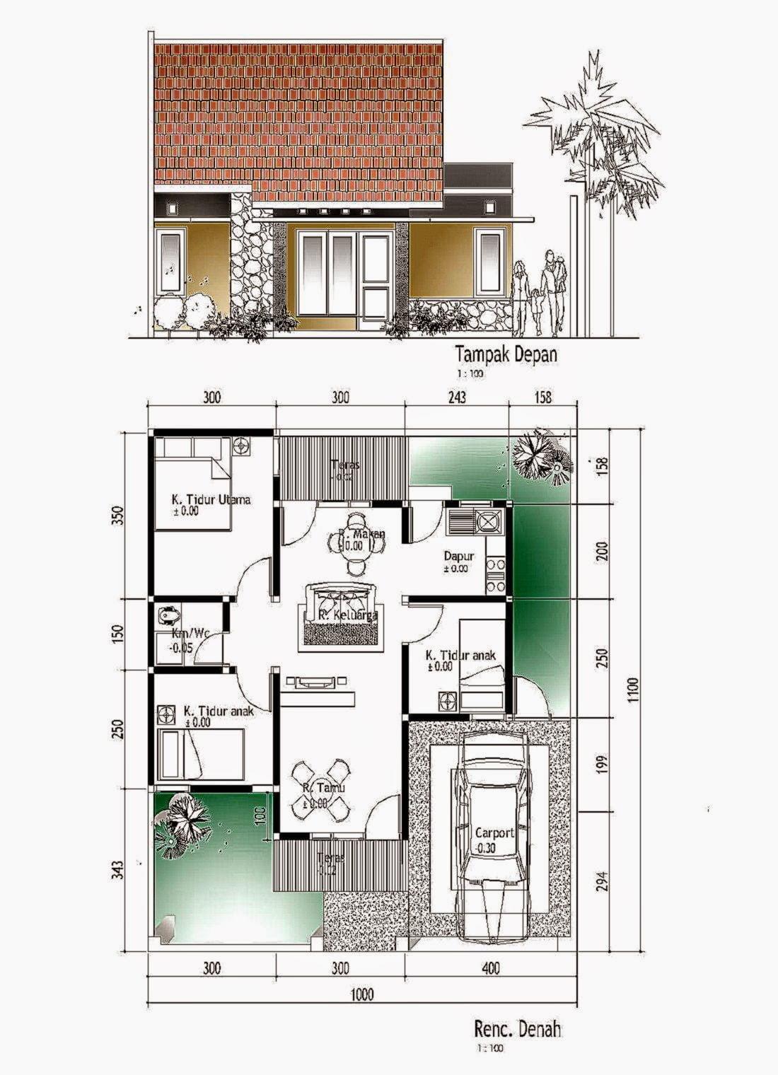 860 Desain Rumah Minimalis Beserta Denahnya HD Terbaru