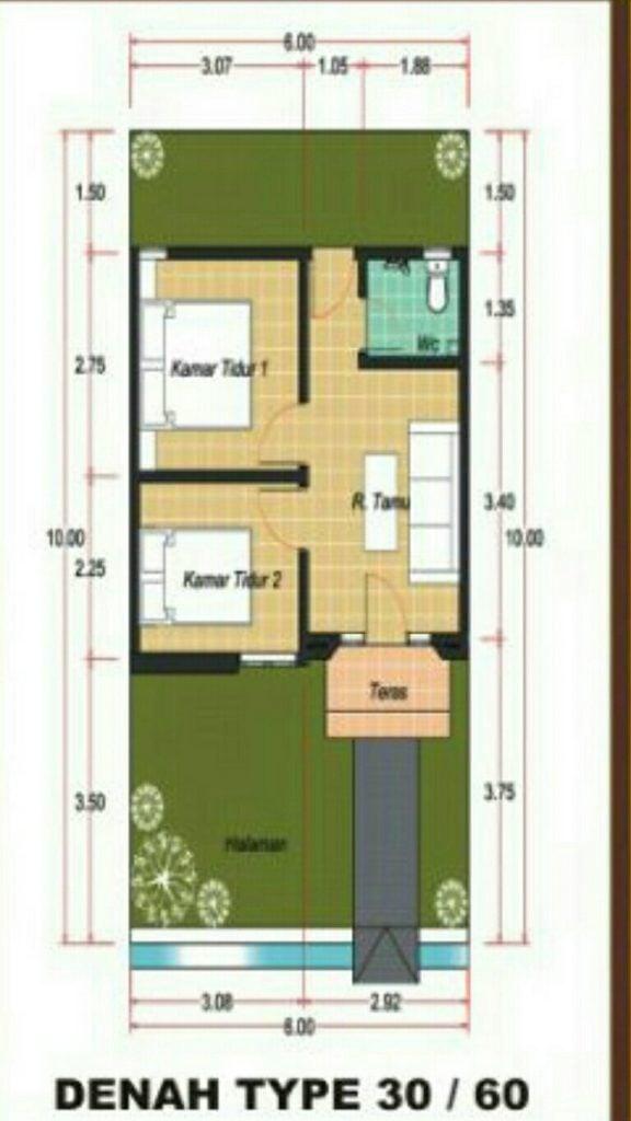 6400 Koleksi Desain Rumah Kpr Type 30/60 HD Terbaru