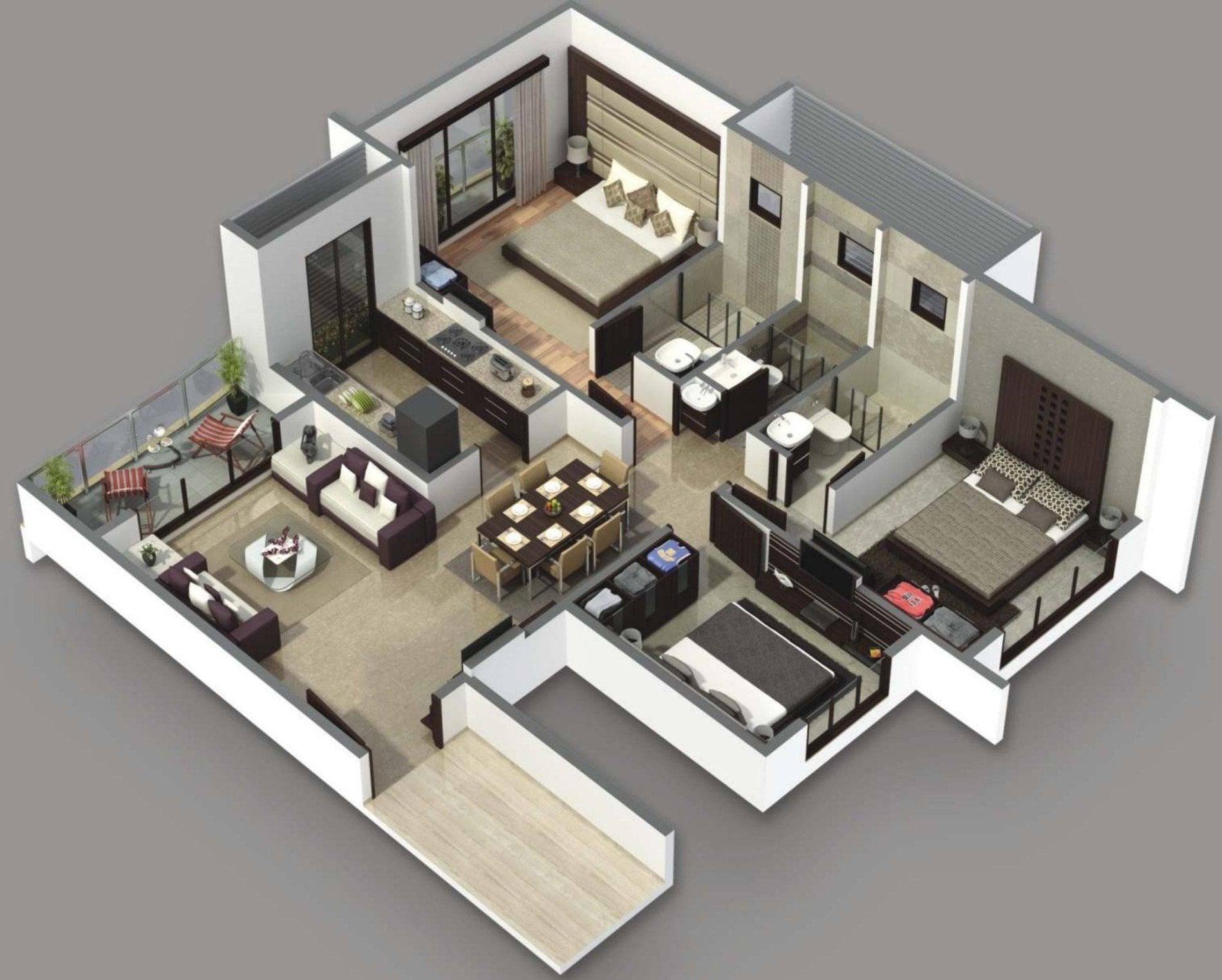 289 Desain Rumah Minimalis 4 Kamar Tidur 1 Lantai