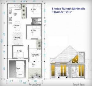 34 gambar desain rumah modern 1 lantai ukuran 7x12