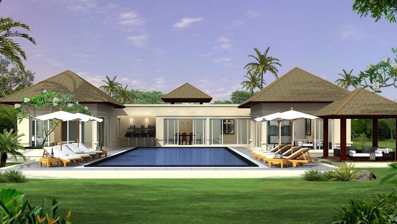34 Macam Desain Rumah Mewah 2 Lantai Dengan Kolam Renang Dan Taman Terbaik Masa Kini Deagam Design