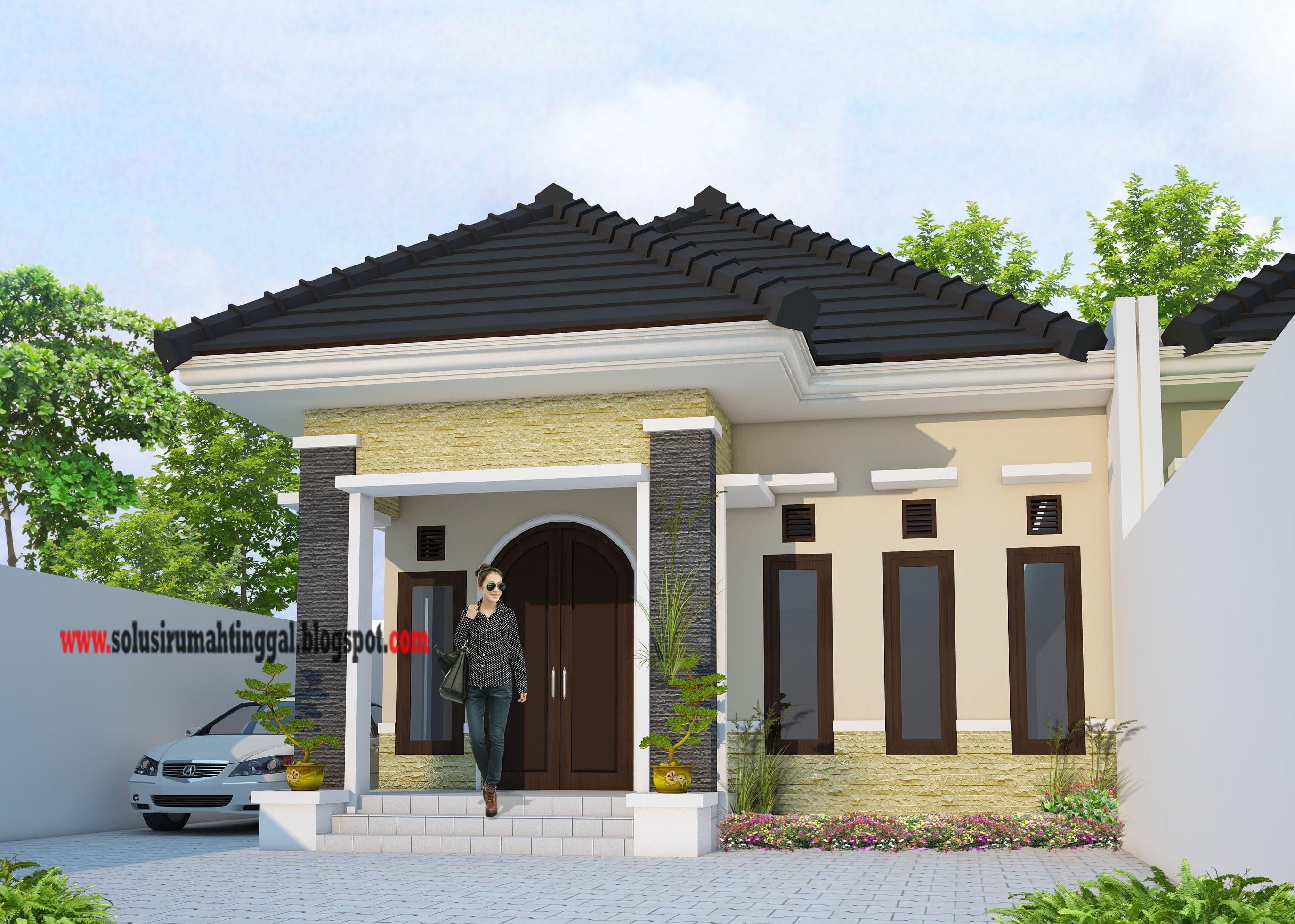 36 Foto Desain Model Rumah Sederhana Modern 1 Lantai Paling Banyak di Cari