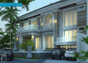 desain rumah mewah dua lantai - deagam design