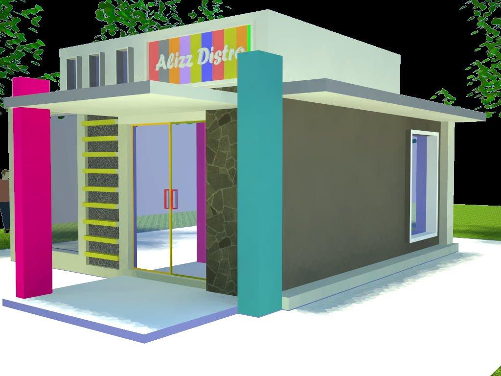 Desain Toko Minimalis Depan Rumah Deagam Design