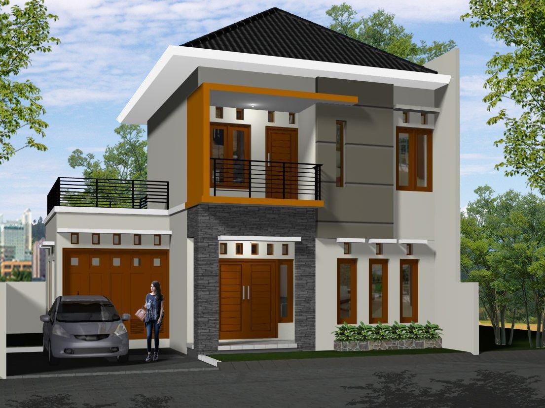 39 Gambar Desain Warna Cat Tembok Rumah Minimalis Lantai 2 ...