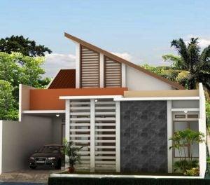 39 model desain rumah satu setengah lantai mewah terbaik