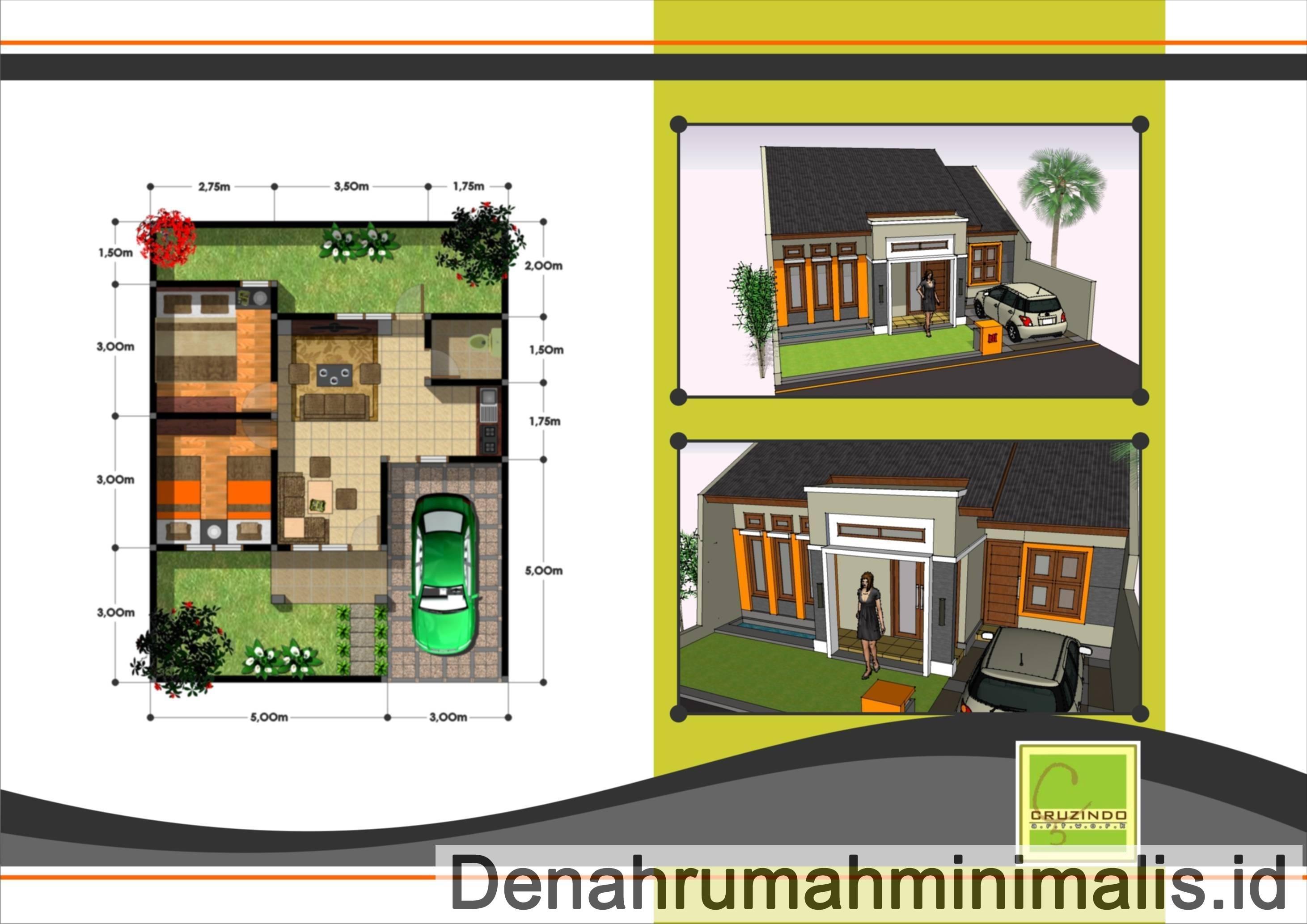 46 Ide Desain Sketsa Rumah Minimalis Type 36 72 Kreatif ...