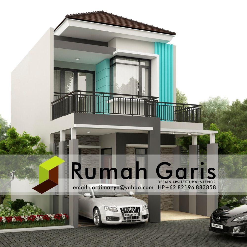 Desain Tampak Depan Rumah 2 Lantai Deagam Design