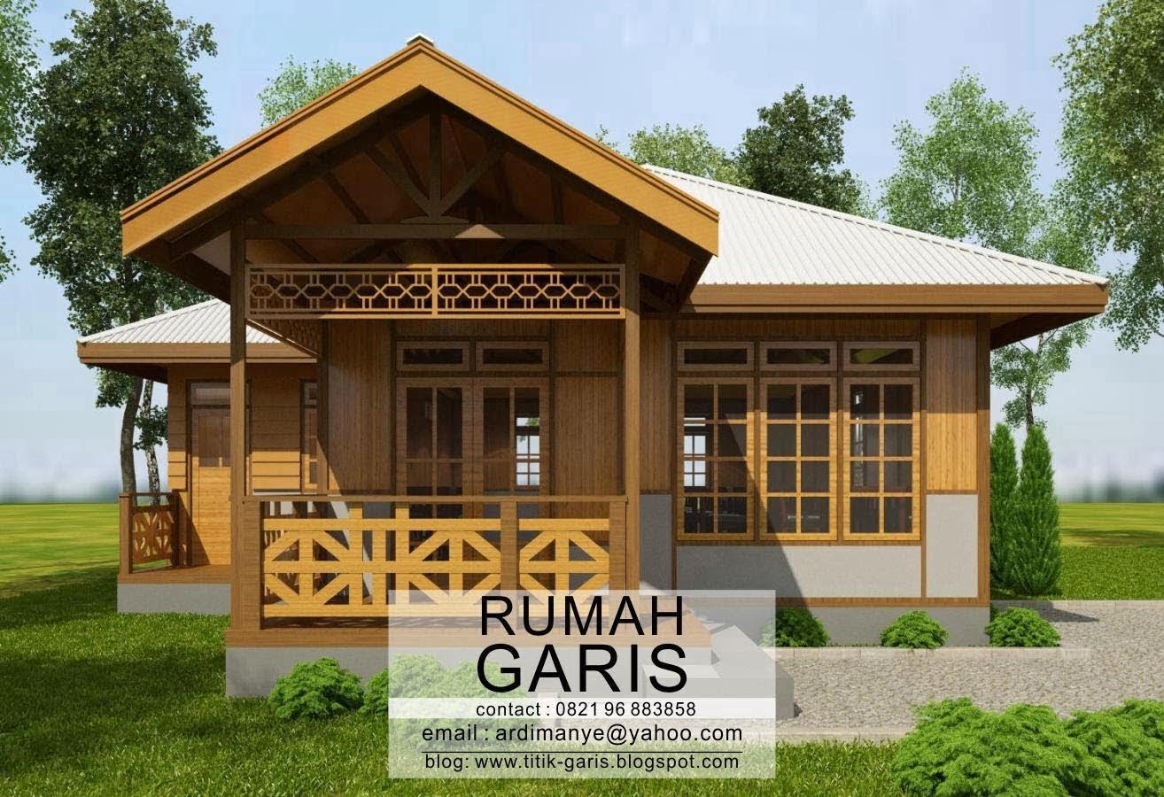 46 Macam Desain Rumah Kayu Minimalis Tampak Depan Istimewa Banget Deagam Design