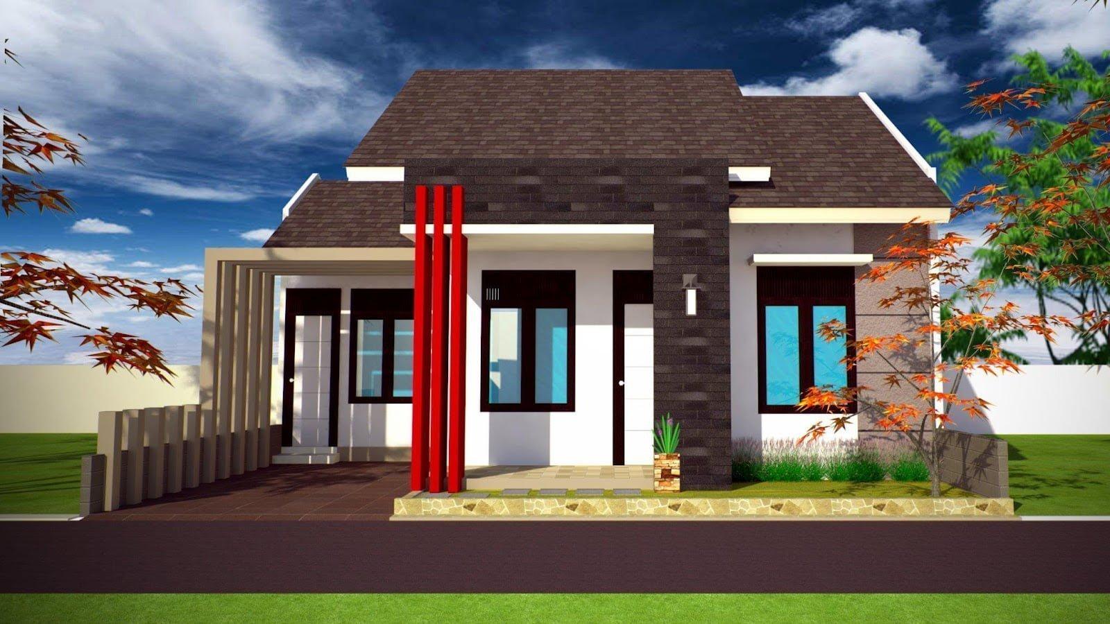 47 Arsitektur Desain Model Rumah Minimalis Tampak Depan 1 Lantai Paling Banyak di Cari
