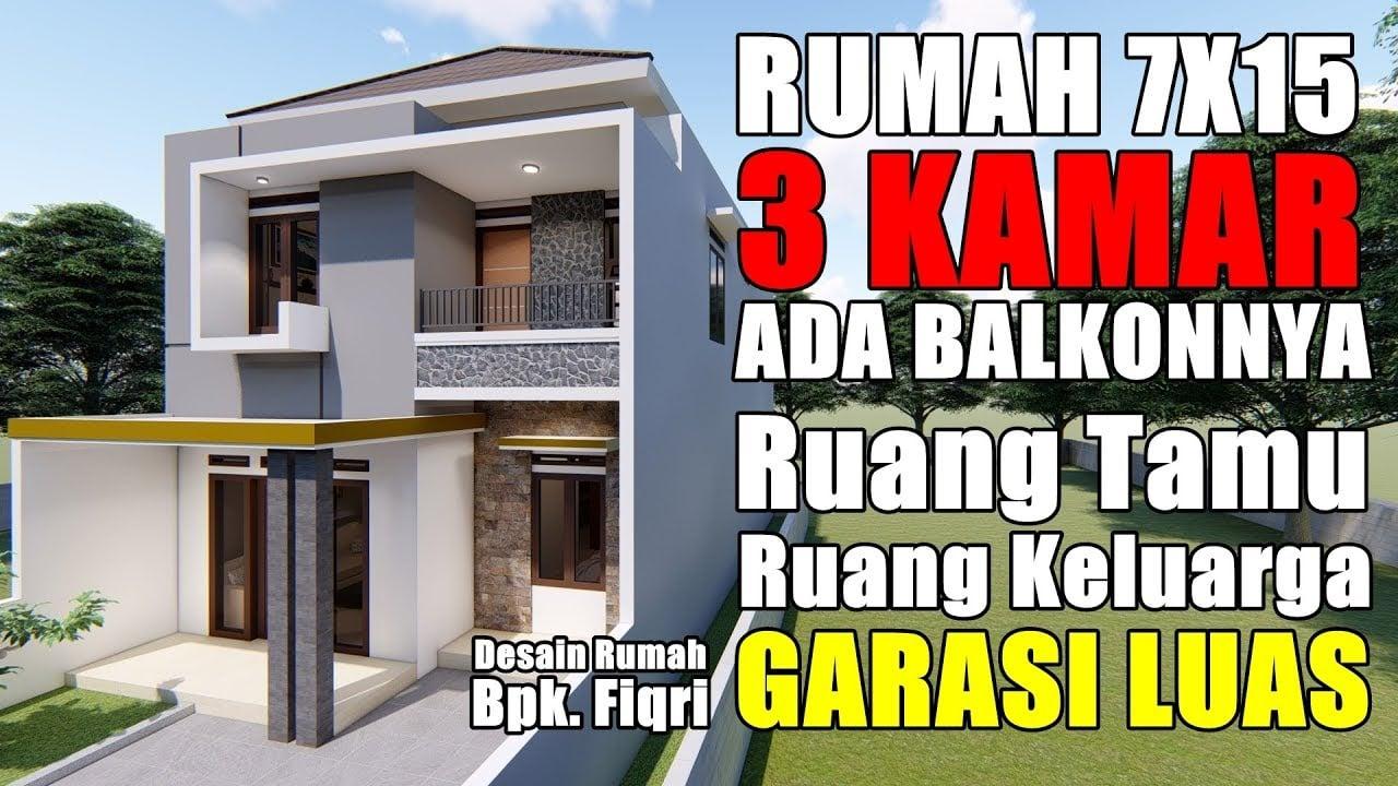 47 Ide Desain Rumah Ukuran 7x15 Paling Terkenal Deagam Design