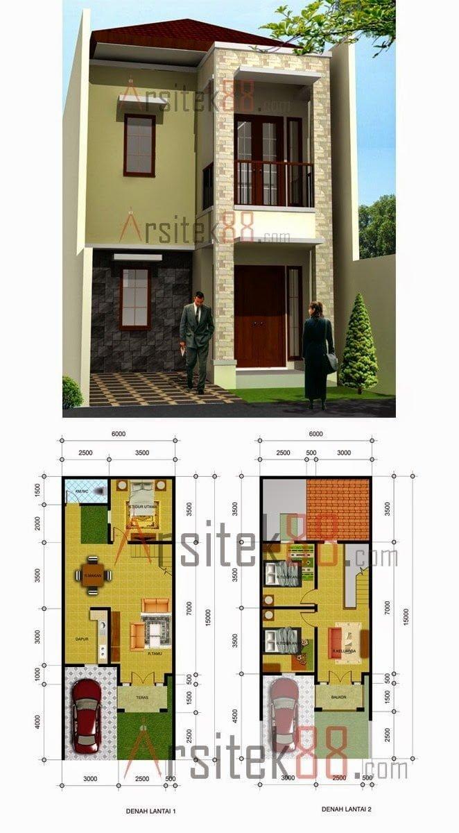 49 Gambar Desain Rumah Minimalis 5X6 Terbaru Dan Terbaik - Deagam Design