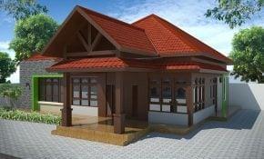 56 Inspirasi Desain Rumah Modern Kampung Terbaru dan Terbaik