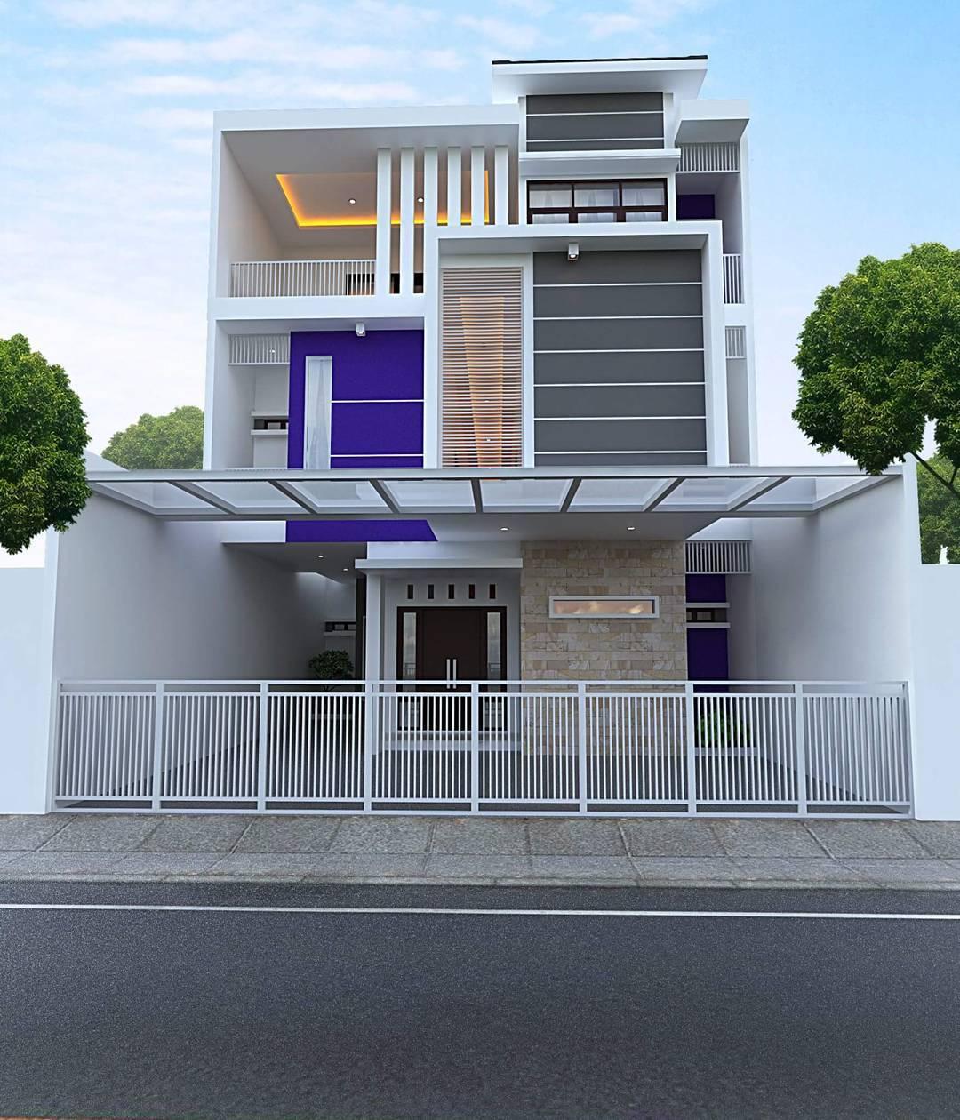 58 Arsitektur Desain Warna Cat Rumah Minimalis 2 Lantai Tampak Depan Yang Wajib Kamu Ketahui Deagam Design