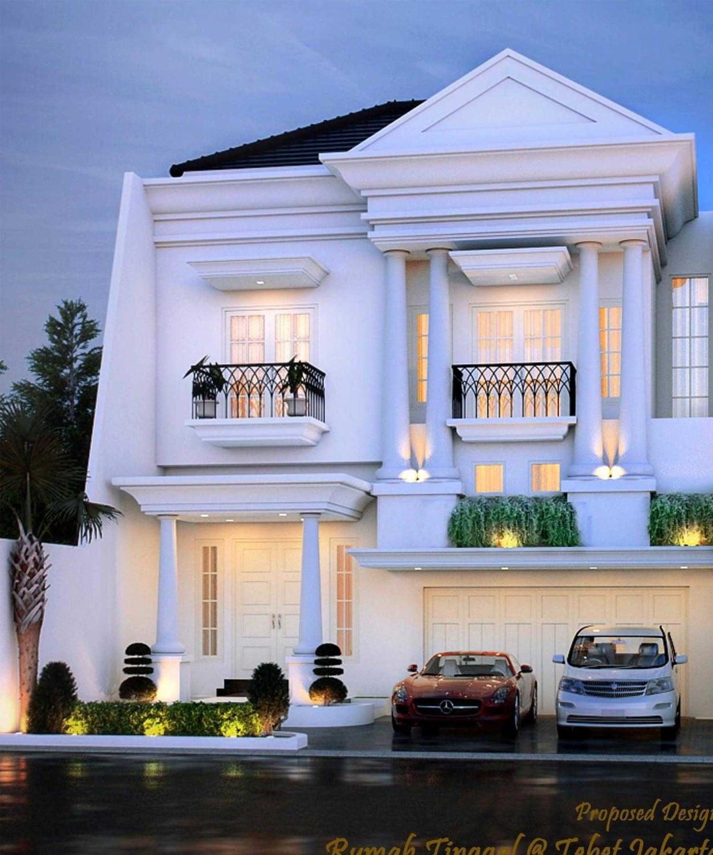 62 Inspirasi Desain Rumah Mewah Gaya Eropa Satu Lantai Terbaru dan Terbaik