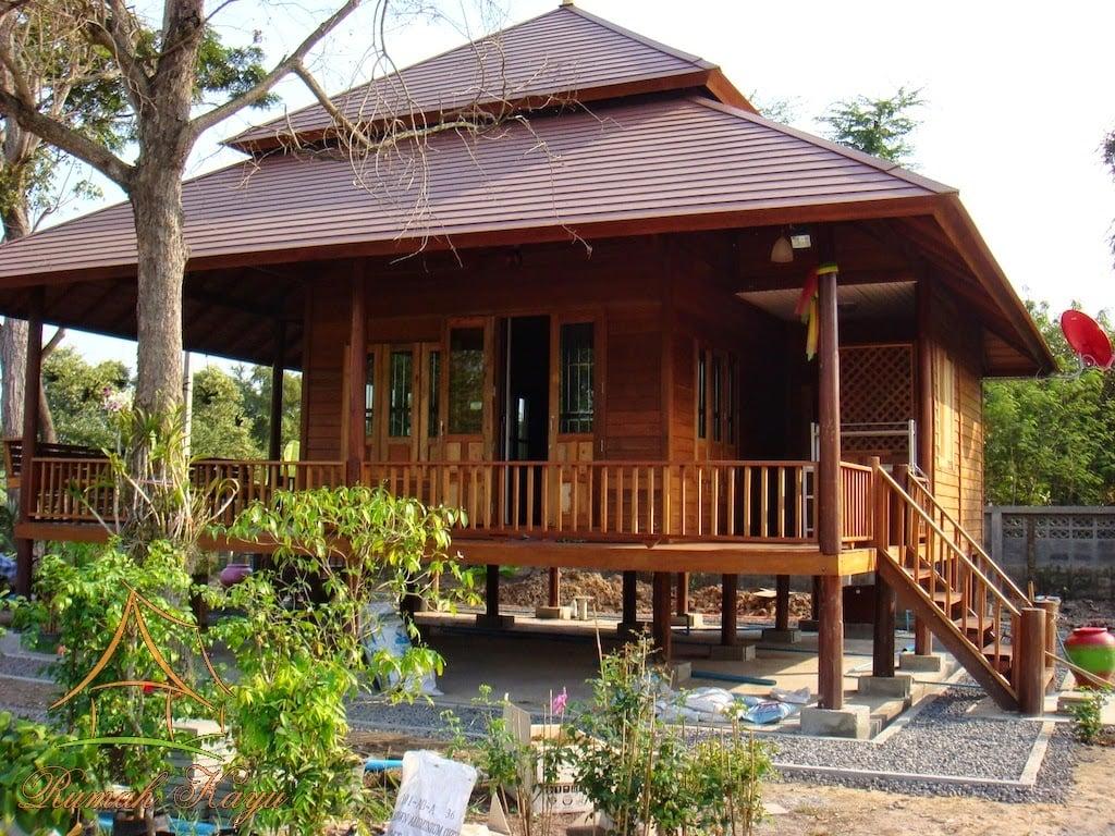 63 Foto Desain Model Rumah Kayu Modern Di Desa Paling ...