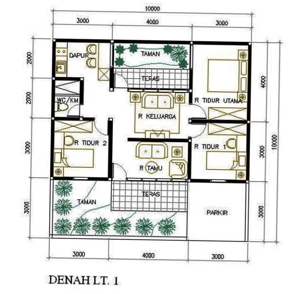 65 Trend Desain Denah Rumah Minimalis Modern 1 Lantai 3 Kamar Terpopuler Yang Harus Kamu Tahu