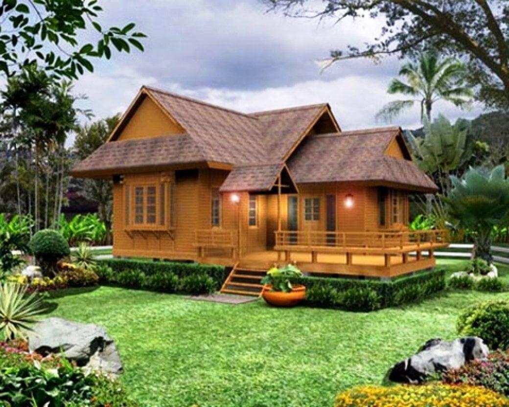 66 Contoh Desain Rumah Kayu Minimalis Modern Sederhana Paling