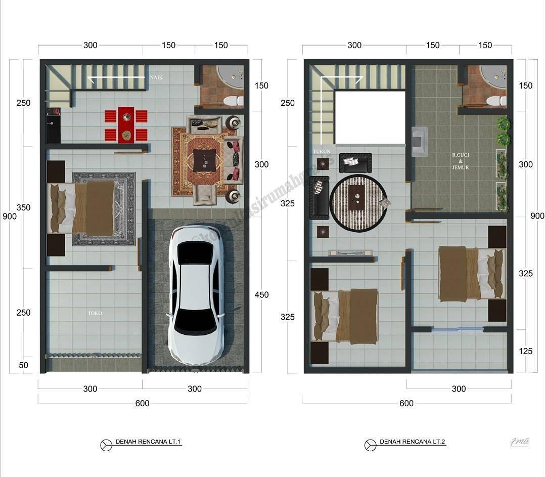 Desain Interior Rumah Minimalis Type 36 2 Lantai - Deagam ...