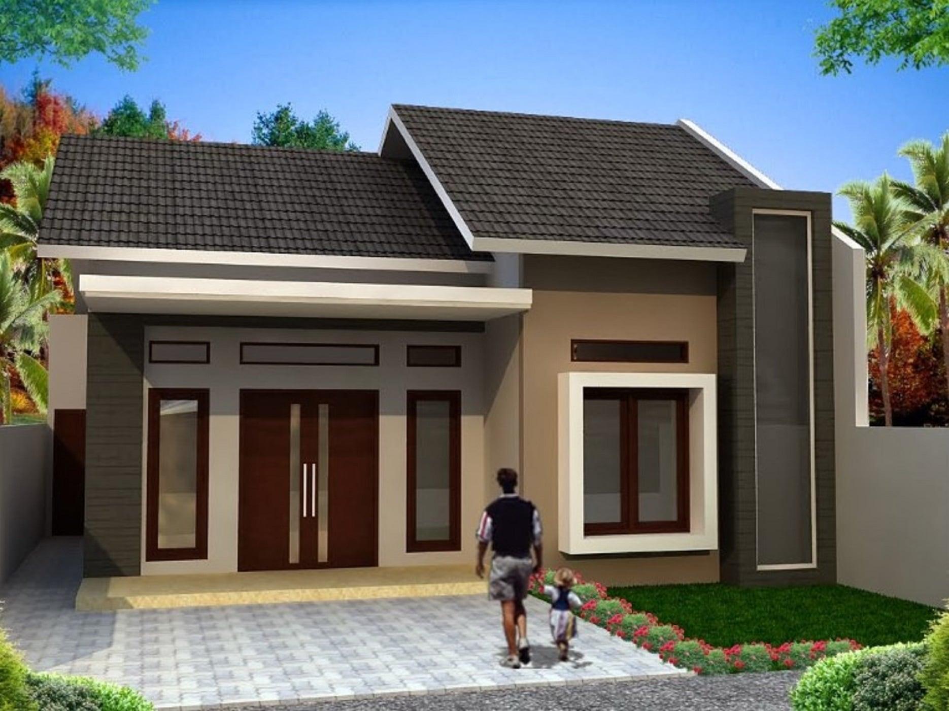 67 Gambar Desain Model Rumah Sederhana Modern 1 Lantai Paling Terkenal