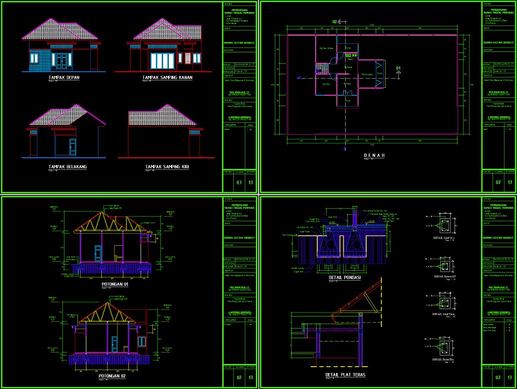 85 Desain Rumah Minimalis Cad Gratis
