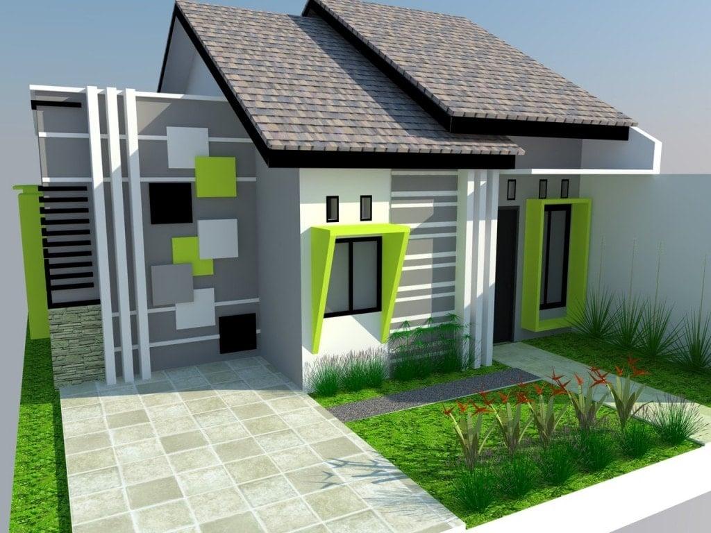 Desain Rumah Minimalis Sederhana Warna Hijau Deagam Design