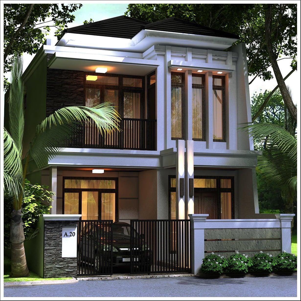 72 Model Desain Rumah Mewah 2 Lantai Minimalis Modern Paling Populer Di Dunia Deagam Design