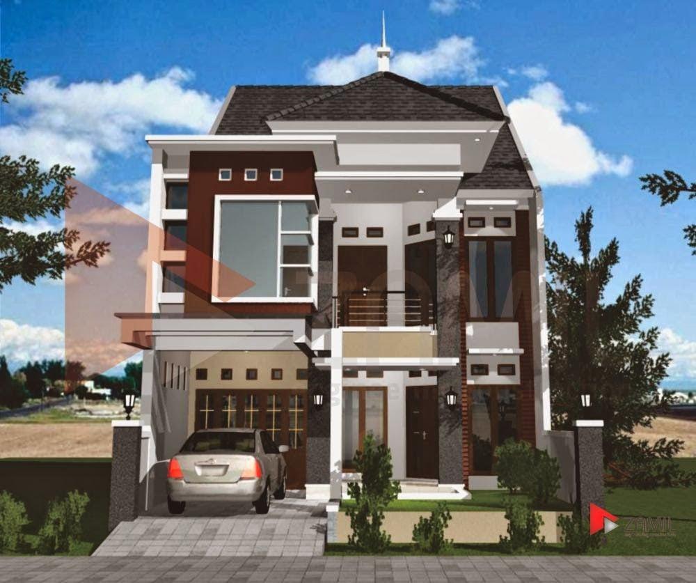 Desain Warna Cat Rumah Minimalis 2 Lantai Tampak Depan Deagam Design