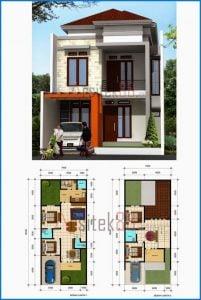 75 contoh desain rancangan rumah mewah 2 lantai kreatif