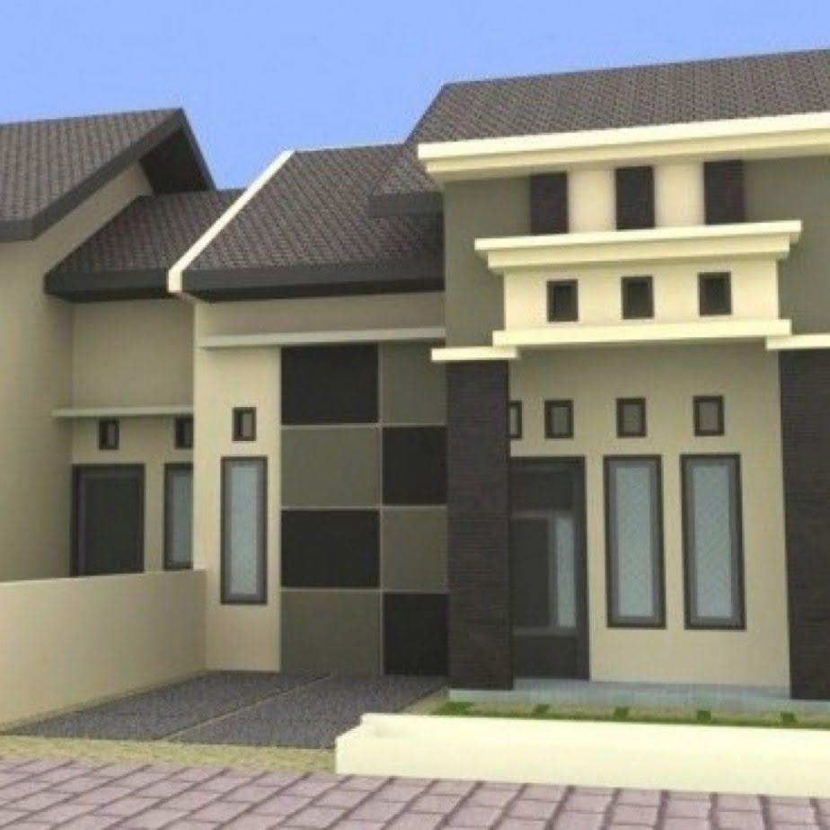 Desain Cat Rumah Minimalis Tampak Depan Warna Cream ...