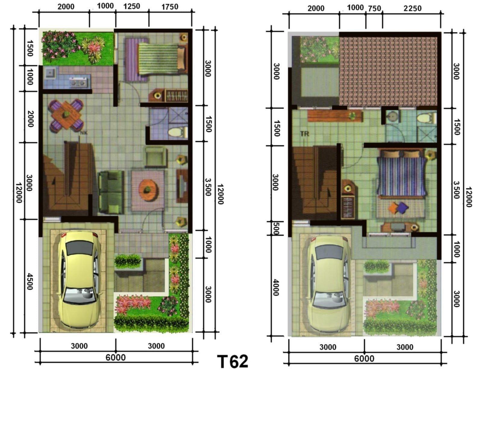 Desain Rumah Minimalis 7X12 2 Lantai Deagam Design
