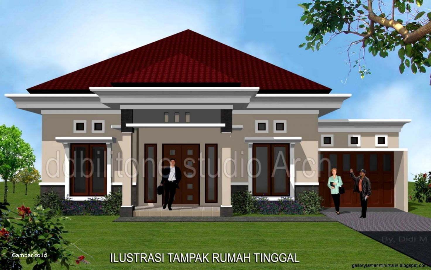 80 Model Desain Rumah Minimalis Modern Sederhana 1 Lantai Istimewa Banget -  Deagam Design