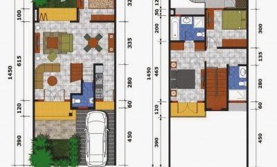 65 ide desain denah dan gambar rumah minimalis modern 2