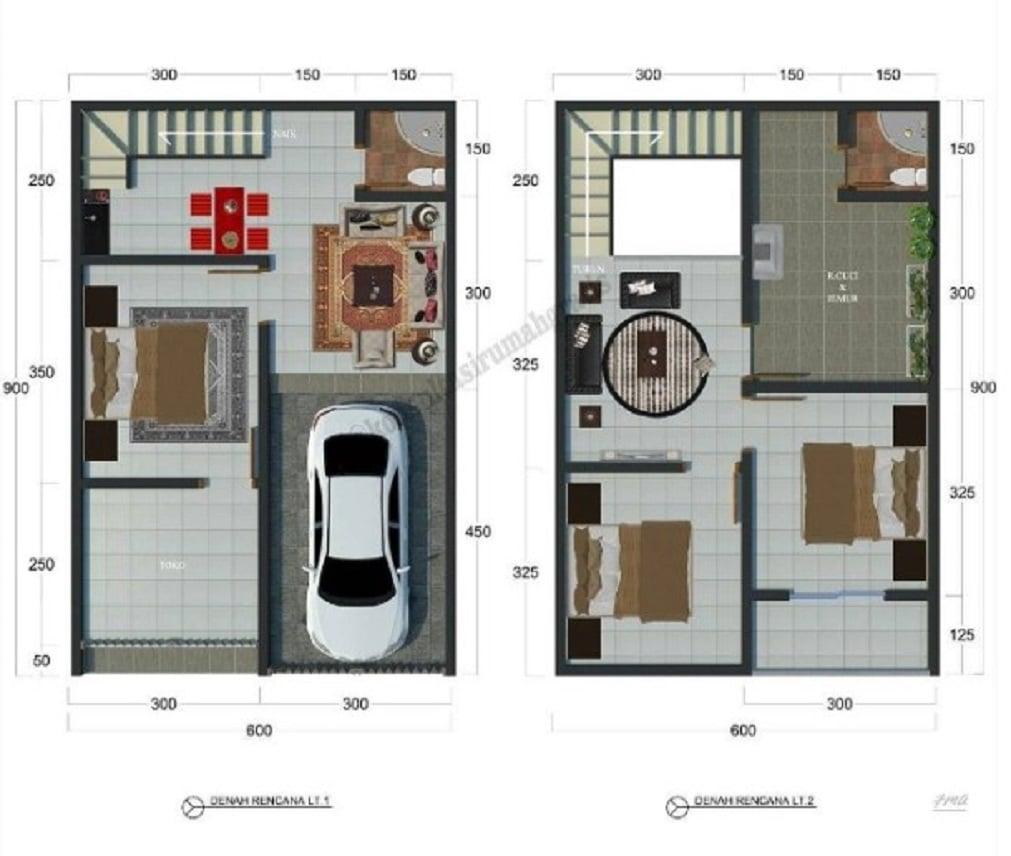 86 Gambar Desain Rumah Minimalis Type 36 Plus Yang Belum ...