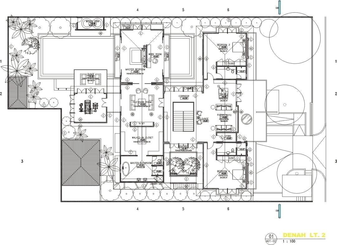86 Model Desain Sketsa Rumah Mewah 2 Lantai Dengan Kolam Renang Paling Terkenal Deagam Design