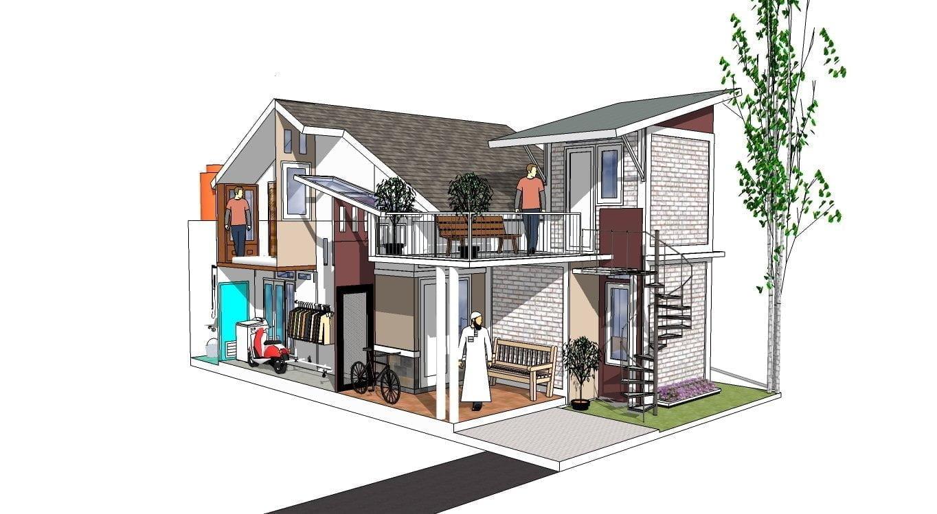 Desain Rumah Minimalis Biaya 50 Juta - Deagam Design