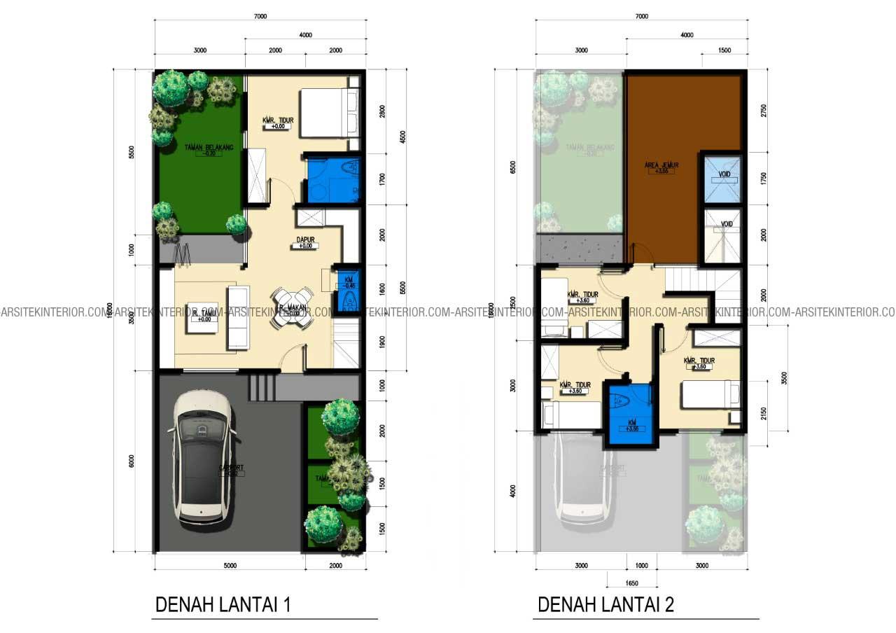 91 Gambar Desain Rumah 2 Lantai Type 21 Terbaru dan ...