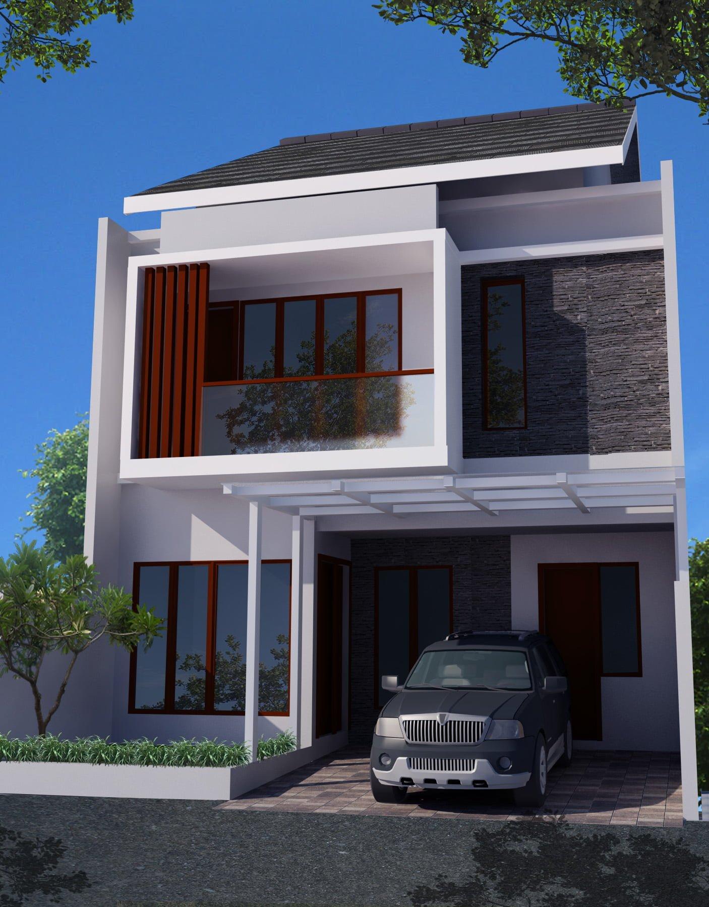 94 Ragam Desain Rumah Minimalis 2 Lantai Luas Tanah 60 Meter Terbaik Masa Kini Deagam Design